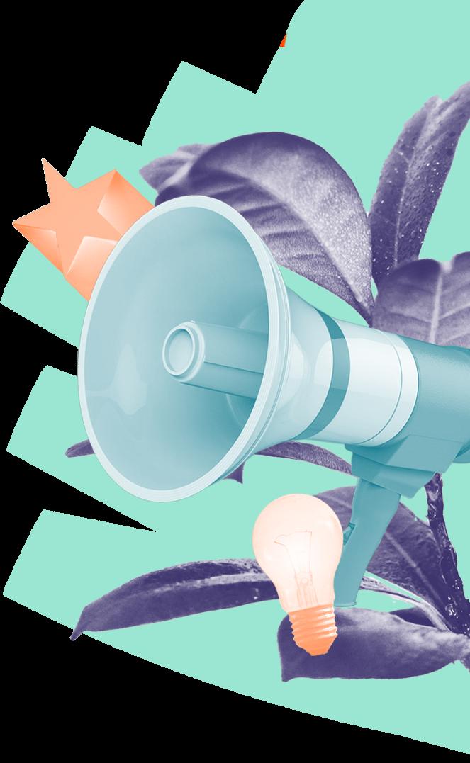 megaphone collage